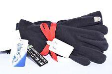Igloos Women's 2pc Set - Black Hat & Touchscreen Texting Fleece Gloves - Sz M/L