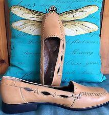 New LAURA SCOTT 'Eldon' Butterscotch Leather Loafer ~ Size 8.5