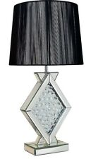 Rhombus Angular Table lamp Decorated with glass crystals By Pharmore