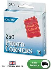 Photo Corners Pack 250 Self Adhesive Vinyl Transparent Clear Album Photograph