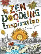 ZEN DOODLING INSPIRATION Scrace Earth Fire Air Water Draw Art Instruction Color