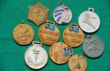 vintage sports medals of the times of the USSR