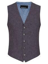 "REMUS UOMO® Leo Linen Waistcoat/Light Purple - 48"""