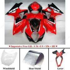 Motorbike Fairing Bodywork Plastic Kit Set Fit For Suzuki GSXR1000 2007-2008 Red