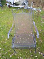 4 Outdoor Black Wrought Iron Porch Patio Chairs Includes Cushions!!