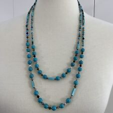 """Necklace 24"""" & 28"""" Blue Beads"""