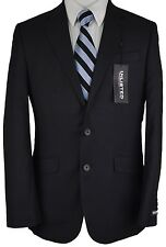 #W508 NEW UNLISTED Black Striped Two Button Suit 40 Regular/32W $350