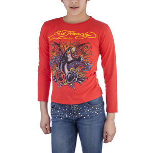 Ed Hardy Toddlers Girls Long Sleeve T-Shirt - Red