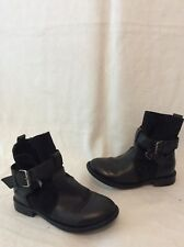 Girls Next Black Leather Boots Size 10