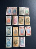 FRENCH GUINEE 1913-1924 Stamps,lot Of 15 Pcs ,mint-12 Pcs, Used 3 Pcs