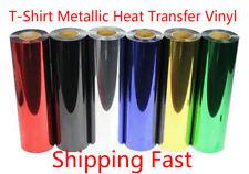 2m T-shirt Metallic Heat Transfer Vinyl Choose From 6 COLORS PET Vinyl