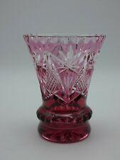 (8576) Glas Becher Pokal Kristallglas geschliffen Höhe ca. 11,8 cm