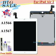 LCD Display For iPad Air 2 iPad 6 A1566 A1567 Touch Screen Digitizer White Tools