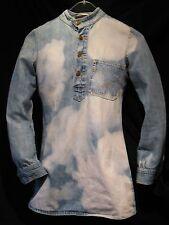 DESIGNER Golding Jean Junction VINTAGE Jeans Tunika Minikleid Longshirt Goa Hemd