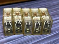 (Lot of 5) IDEC RH1B-U AC24V General Purpose Relay 24 VAC 10 Amp ICE CUBE 5 PIN
