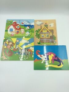 Childrens Jigsaw Puzzles Dinosaur Animal House 7-13 Pieces