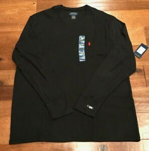 Polo Ralph Lauren Thermal Shirt Men'NWTs 2-XL Long Sleeve Cotton Blend Black