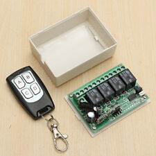 433MH 12V 4CH 100M Wireless Remote Control Relay Switch Transceiver + Receiver