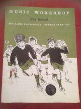 Music Workshop BBC RADIO FOR SCHOOLS Summer term 1965 RARE