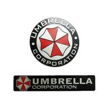 1pc 3D Metal Resident Evil Corporación Umbrella coche insignia emblema calcomanías decorativas
