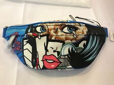 $575 18 Moschino Couture Jeremy Scott Eyes Print Fanny Pack Bumbag #MOSCHINOEYES