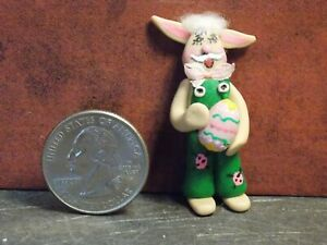 Dollhouse Miniature Clay Easter Bunny Rabbit 1:48 scale F55 Dollys Gallery
