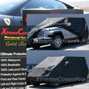 2019 2020 2021 JEEP WRANGLER UNLIMITED Waterproof Car Cover w/MirrorPocket Black
