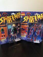 2 Figurines Marvel Legends Spiderman Gwen Stacy Retro Wave Hasbro