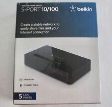 Belkin Wired Network Switch 5-Port 10/100 Desktop Ethernet Network LAN F4G0500