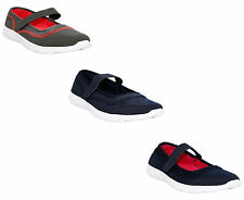 WOMENS LADIES SLIP ON MARY JANE LIGHTWEIGHT COMFORT GYM SPORTS GO WALK TRAINERS