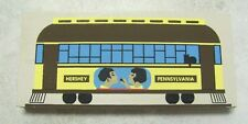Cat's Meow Wood  Hershey PA TROLLEY CAR  Signed: Faline 1992