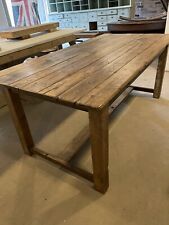 More details for antique farmhouse dining/kitchen table made from reclaimed victorian wood