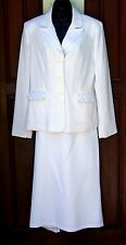 GIORGIO SANT'ANGELO white skirtsuit Sz 8 NWOT vintage classic lined polyester