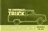 1966 Chevrolet Truck Owners Manual User Guide Reference Operator Book Fuses OEM