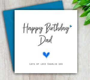 Birthday Card For Dad, Daddy, Grandad, Godfather, Uncle, Personalised & Handmade