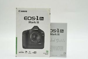 Canon EOS 1DS Mark III Digital Camera User Instruction Manual W/Packet Guide
