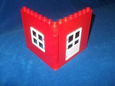 Lego Duplo Puppenhaus Bauernhof Hauswand Hauswände Wände Wand Haus Rot