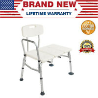 US Shower Chair Height Adjustable Bath Tub Medical Shower Safety Transfer Bench