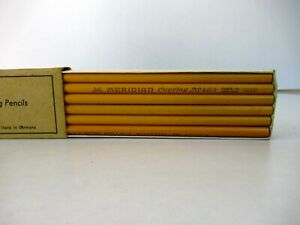 """Vintage Pencil Meridian Finest Copying Pencils Germany With Original Box Rare""""F6"""