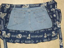 RECYCLE DENIM DALLAS APRON BE READY FOR THE GAME FREE SHIPPING LOWER 48
