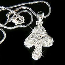 w Swarovski Crystal Cute ~TOADSTOOL MUSHROOM~ charm Pendant chain girls Necklace