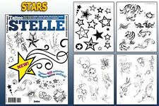 STELLE STARS Tattoo Flash Design Book 64-Pages Cursive Writing Art Supply
