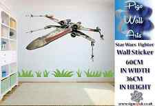 Star Wars wall sticker X Wing Fighter Childrens Bedroom wall decor decal large