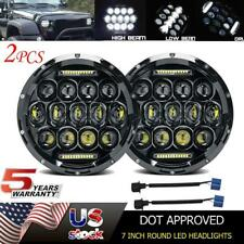 For Toyota Corolla Pickup 7 inch Round LED Headlights Hi-Lo Halo DRL H4 H13 Pair