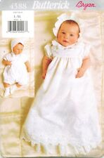 Butterick 4588 Infant Baby Christening Gown Hat Romper sewing pattern UNCUT NEW