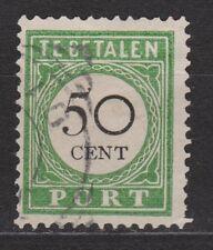 Port nr 20 type 1 gestempeld used Curacao Nederlandse Antillen due stamp