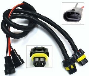 Extension Wire P 9006 HB4 Two Harness Head Light Low Beam Connector Socket Bulb