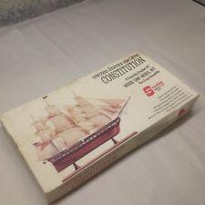 """Vintage Sterling United States Frigate Constitution Model Ship Kit D9 14.5"""" Long"""