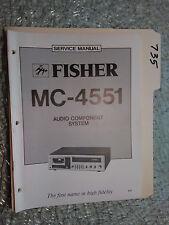 Fisher MC-4551 service manual original repair book stereo receiver tape deck