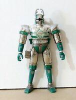 VINTAGE Beetleborgs Metallix Spectra Titanium Silver Head Flip - Bandai 1997